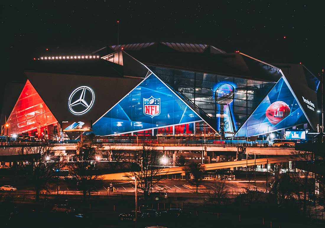 Photo of Mercedes Benz Stadium at Night